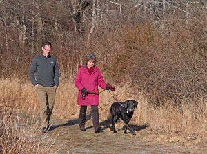 Michael Lach, Patti Smith, and Patti's trusty dog Boomer