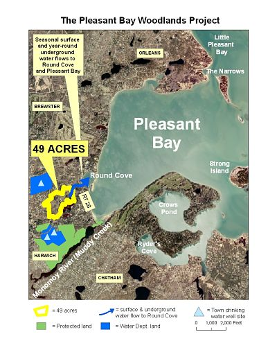 for-July11-event_49-acre_Pleasant_Bay_Woodlands_Project_WATERSHED_map_2July2013_opt