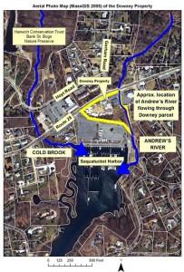 map Downey parcel Saquatucket Harbor
